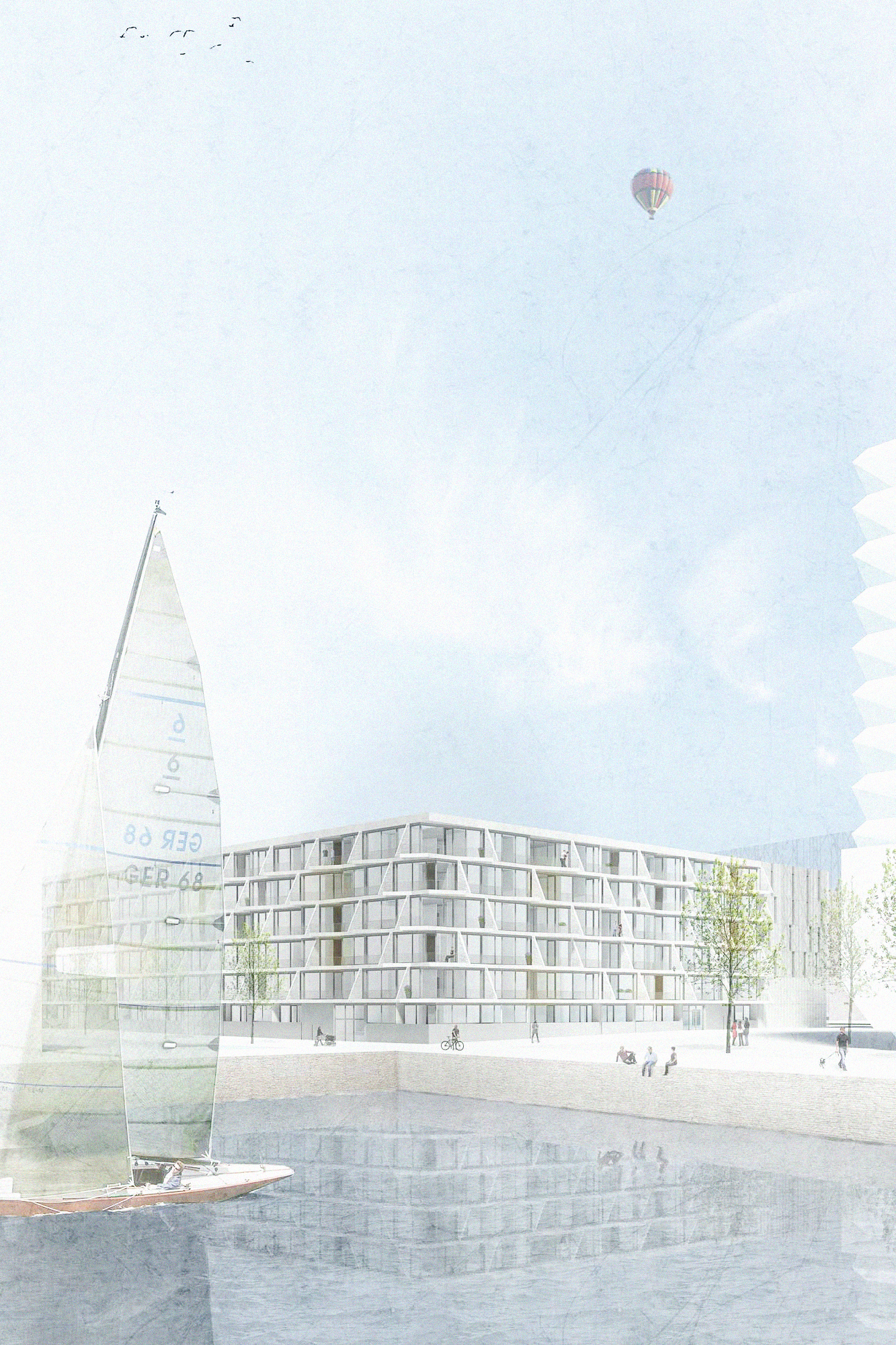 KUBIK Architektur - Studio für Architektur Berlin - architecture - Wettbewerb - Wohnbau - Hotel - Zollhafen Mainz