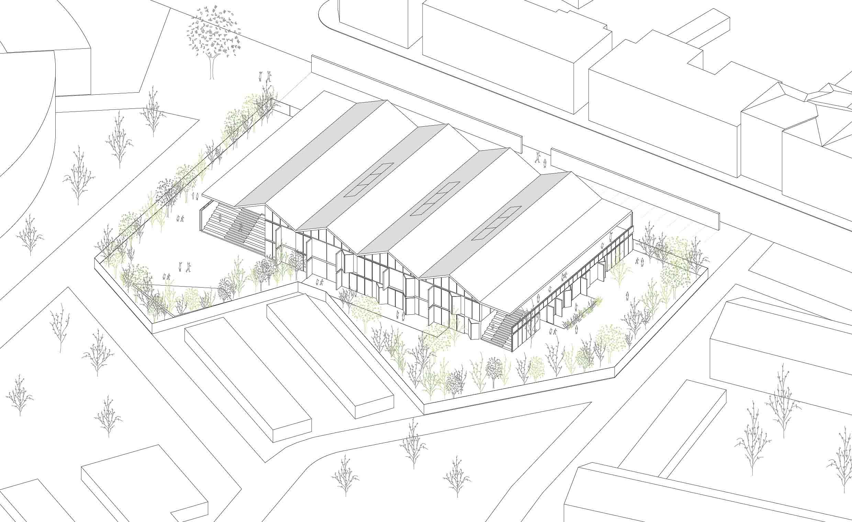 KUBIK Architektur - Studio für Architektur Berlin - architecture - Wettbewerb Kulturzentrum Neumuenster