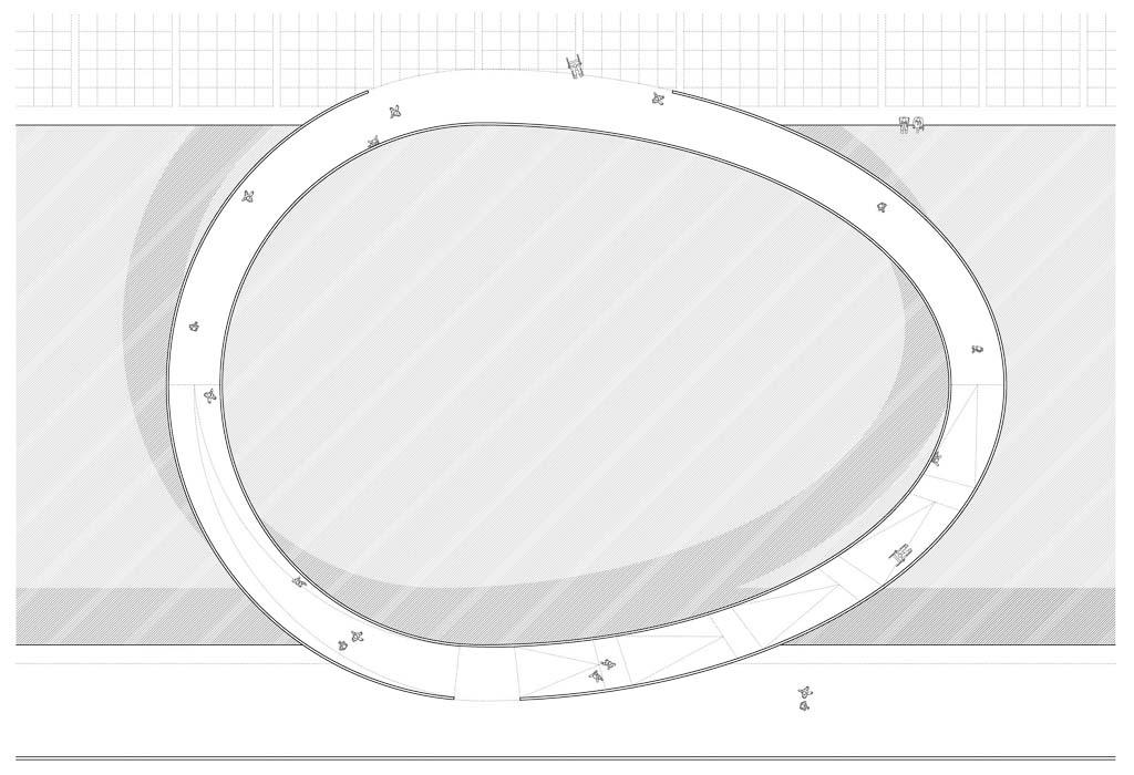 KUBIK Architektur - Studio für Architektur Berlin - architecture - Wettbewerb - Bruecke Pergamon Museum- Grundriss