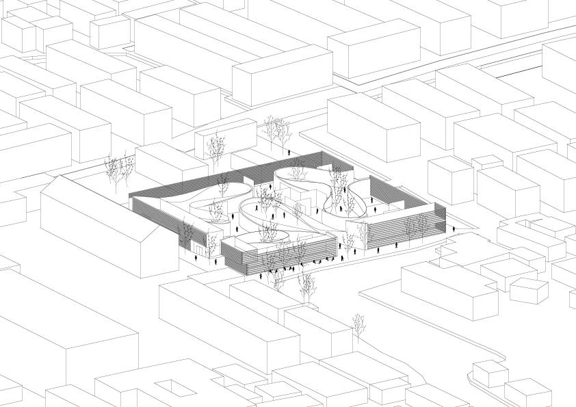 Kubik studio f r architektur hms handwerksmuseum for Architektur axonometrie