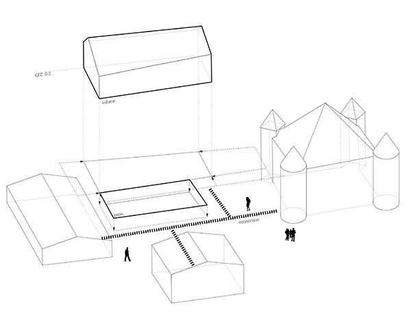 KUBIK Architektur - Studio für Architektur Berlin - architecture - Wettbewerb Schullandheim Tandalier - Axonometrie