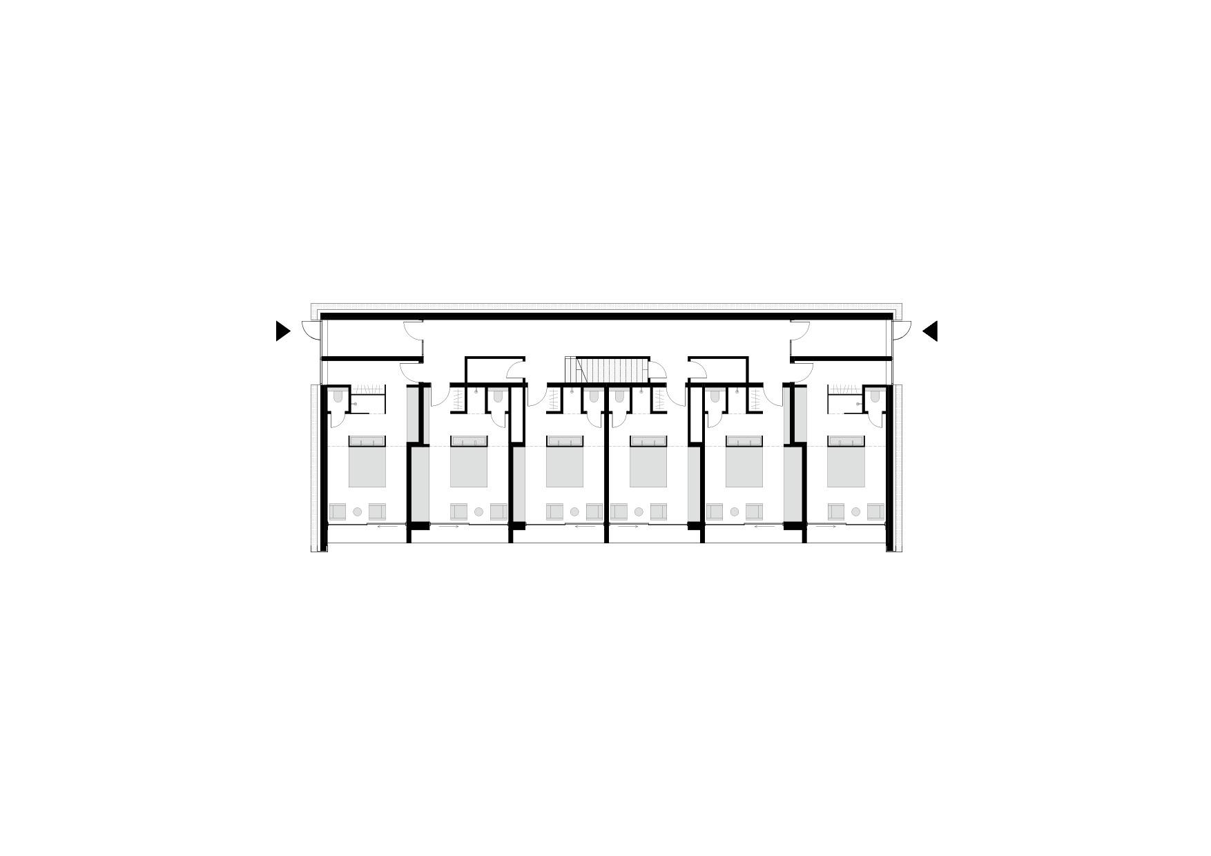 KUBIK Architektur - Studio für Architektur Berlin - architecture - Projekt - Hotel - Parkstudios - Grundriss