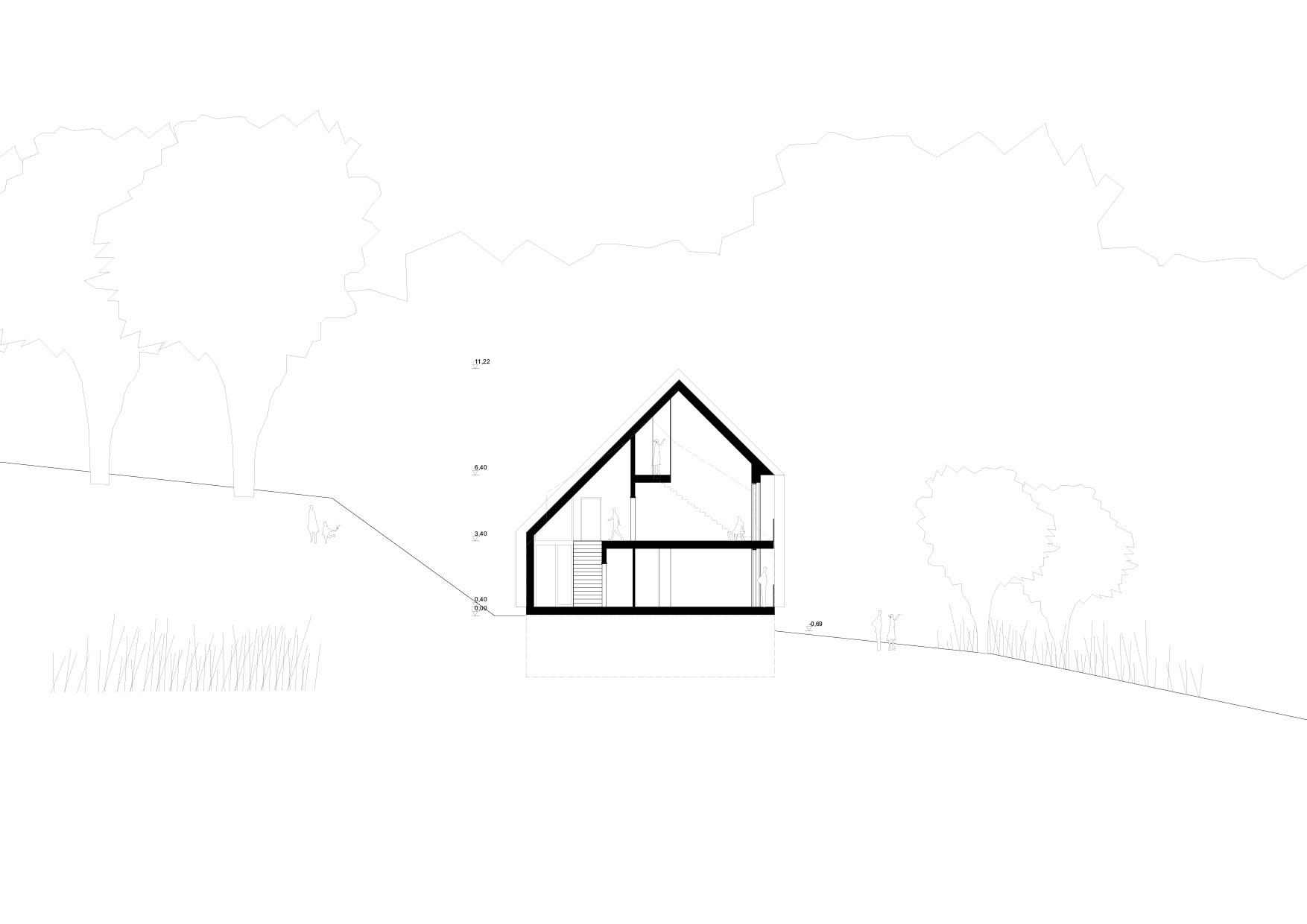 KUBIK Architektur - Studio für Architektur Berlin - architecture - Projekt - Hotel - Parkstudios - Schnitt