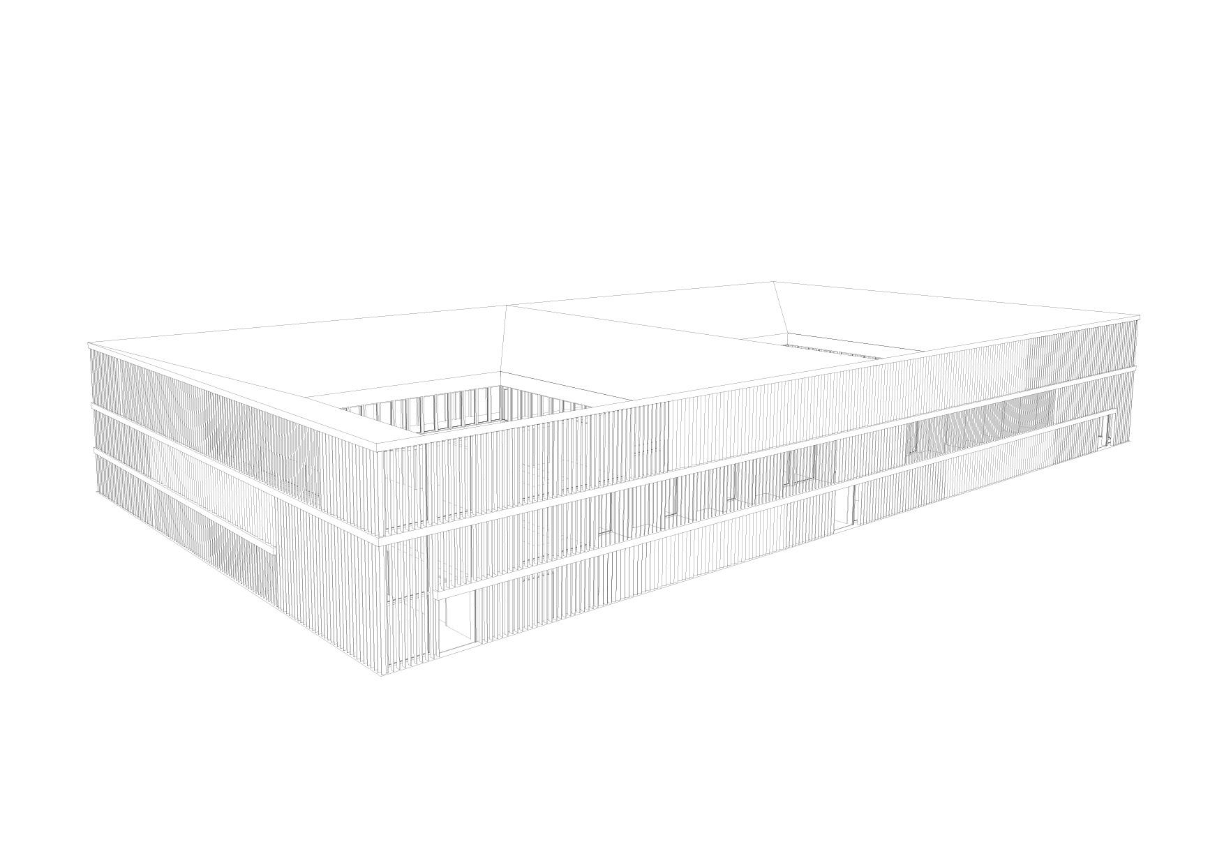 KUBIK Architektur - Studio für Architektur Berlin - architecture - Projekt - Meditationszentrum - Ansicht - Perspektive