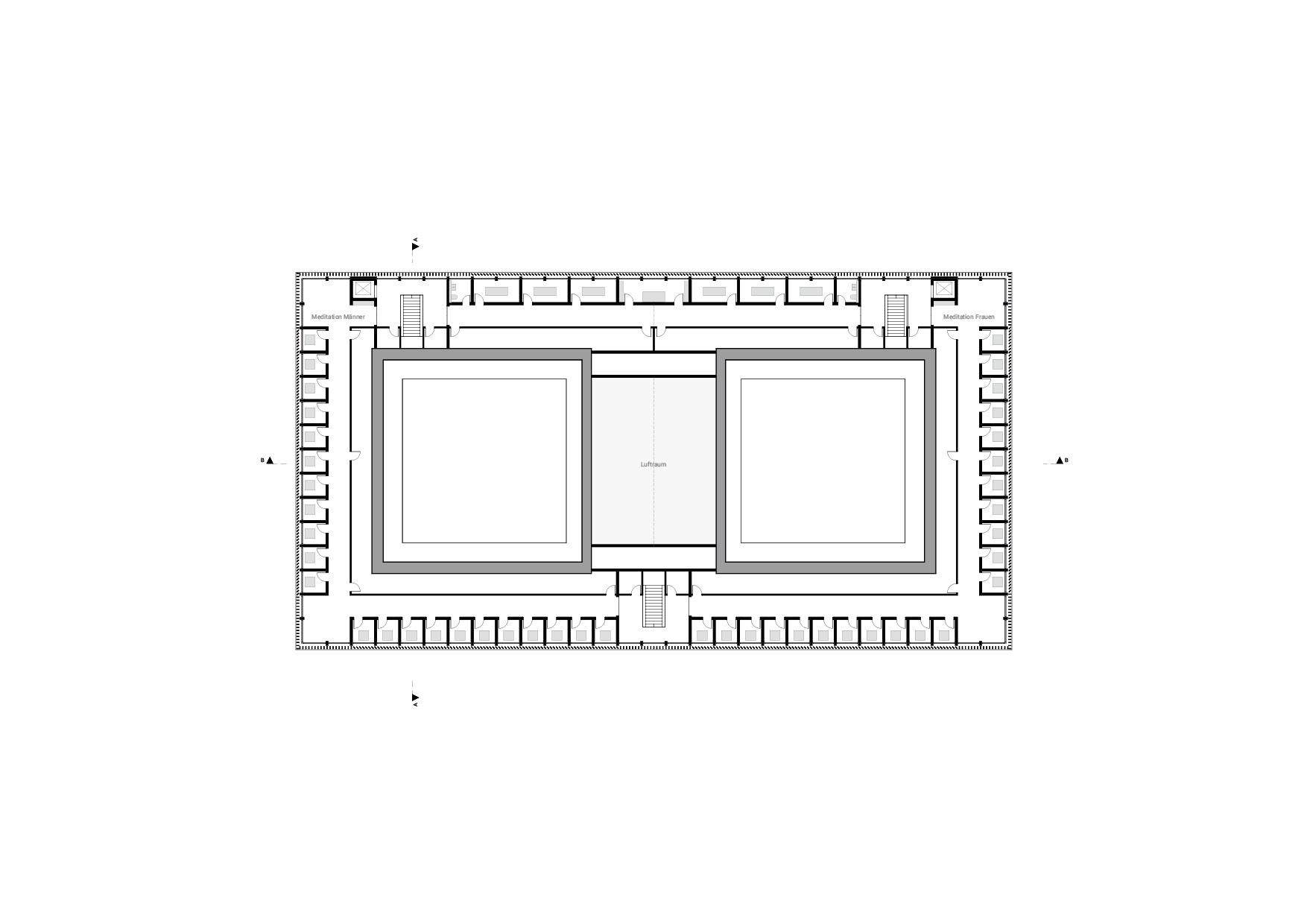 KUBIK Architektur - Studio für Architektur Berlin - architecture - Projekt - Meditationszentrum - Dachgeschoss