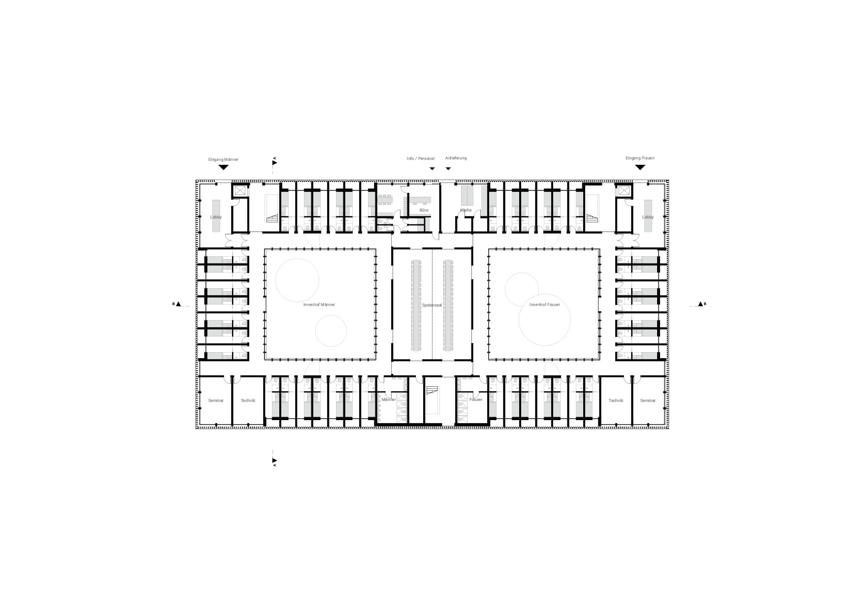 KUBIK Architektur - Studio für Architektur Berlin - architecture - Projekt - Meditationszentrum - Erdgeschoss