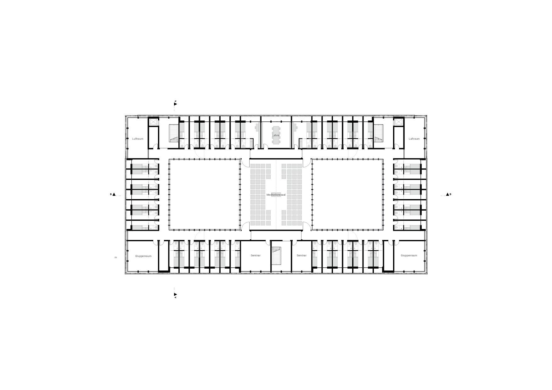 KUBIK Architektur - Studio für Architektur Berlin - architecture - Projekt - Meditationszentrum - Obergeschoss