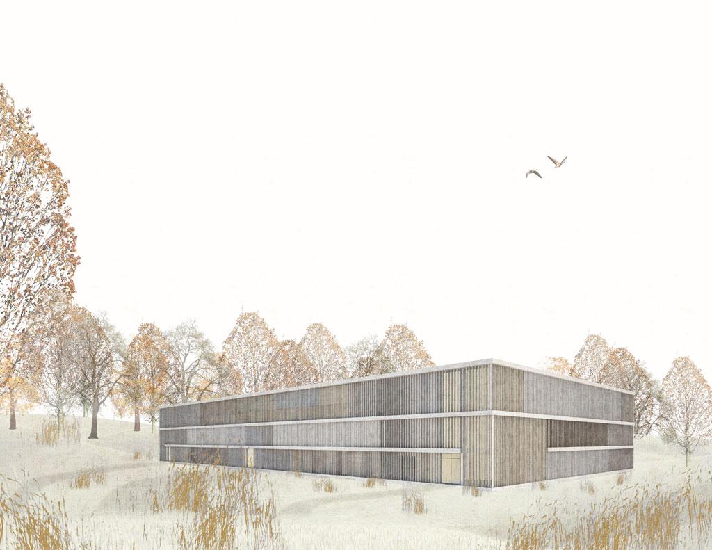 KUBIK Architektur - Studio für Architektur Berlin - architecture - Projekt - Meditationszentrum - Perspektive