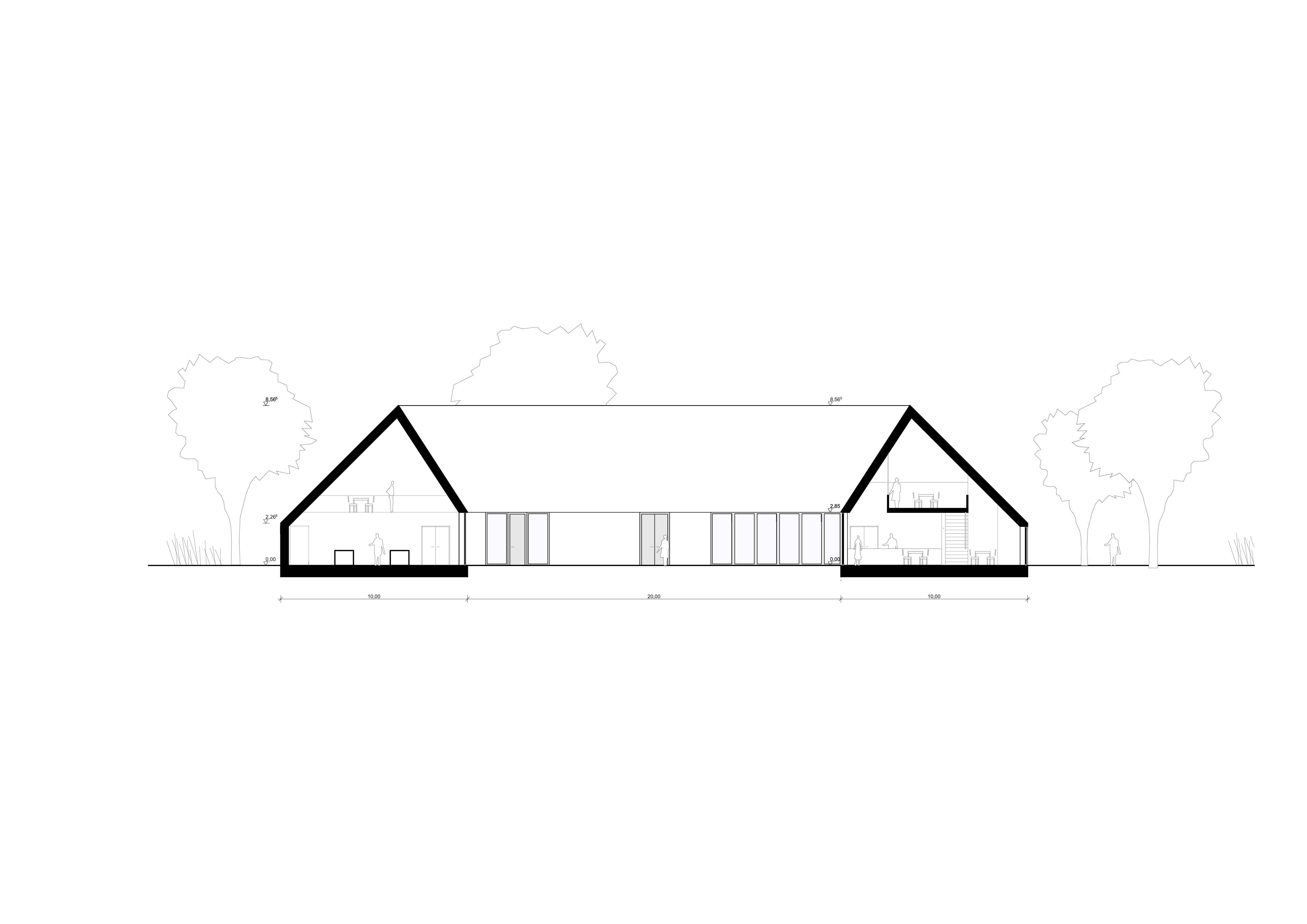 KUBIK Architektur - Studio für Architektur Berlin - architecture - Projekt- Hotellogistik - Schnitt