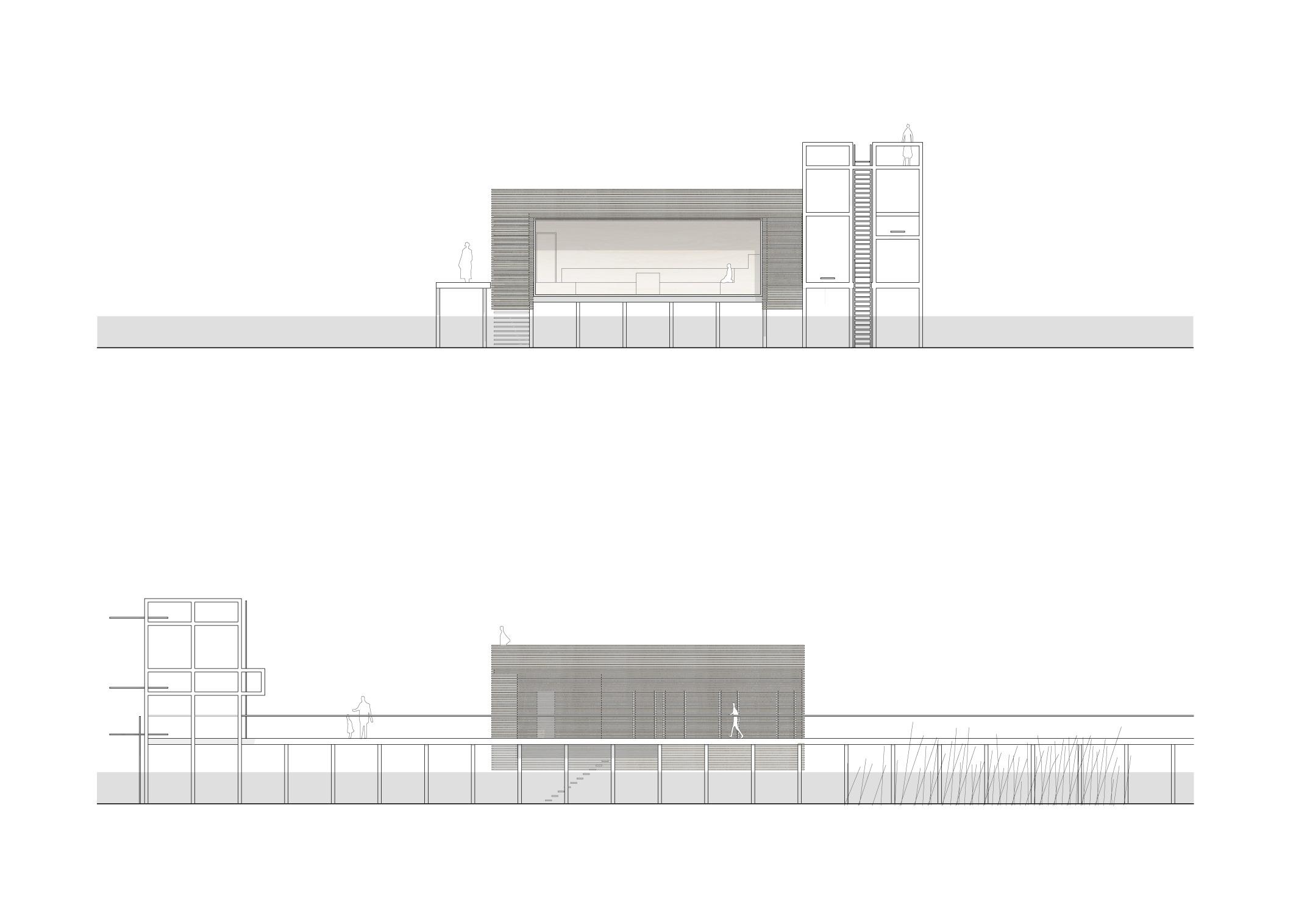 KUBIK Architektur - Studio für Architektur Berlin - architecture - Projekt - Seesauna - Ansicht