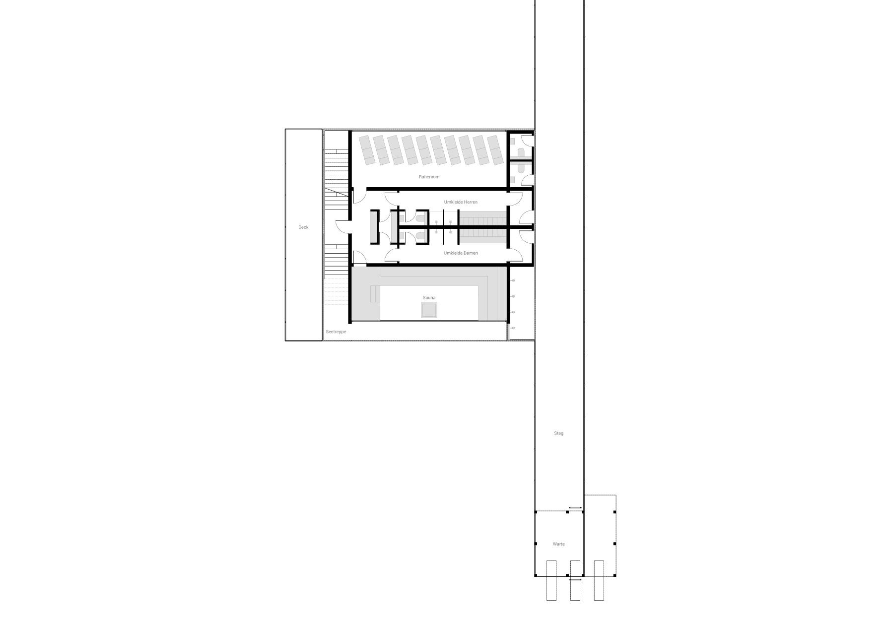 KUBIK Architektur - Studio für Architektur Berlin - architecture - Projekt - Seesauna - Grundriss