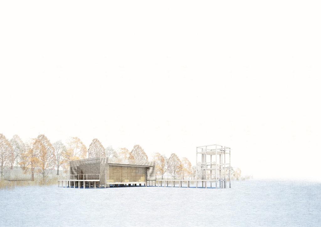 KUBIK Architektur - Studio für Architektur Berlin - architecture - Projekt - Seesauna - Perspektive