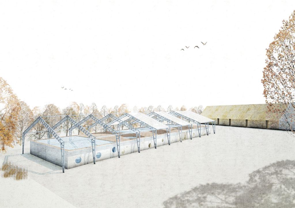 KUBIK Architektur - Studio für Architektur Berlin - architecture - Projekt - Schwimmbad - Perspektive