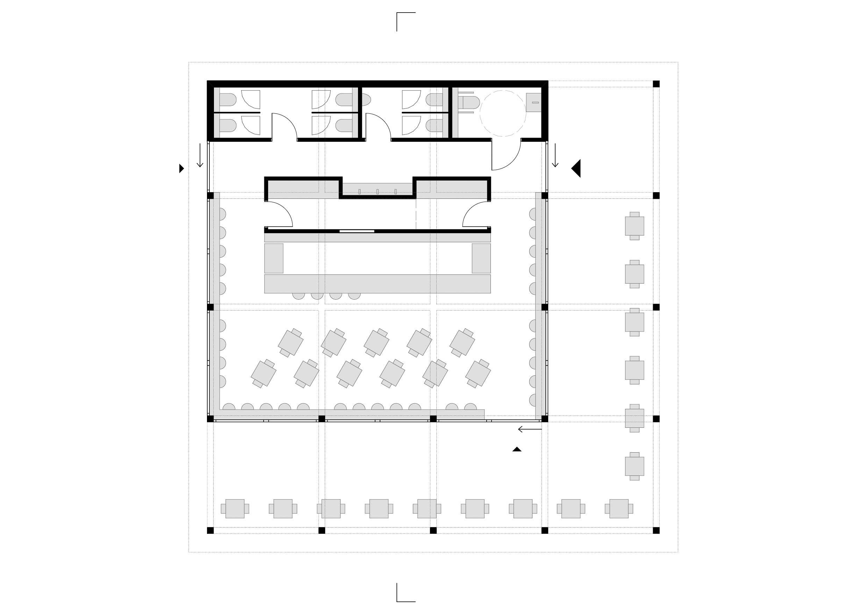 KUBIK Architektur - Studio für Architektur Berlin - architecture - Projekt - Kultur - Cafe - Grundriss