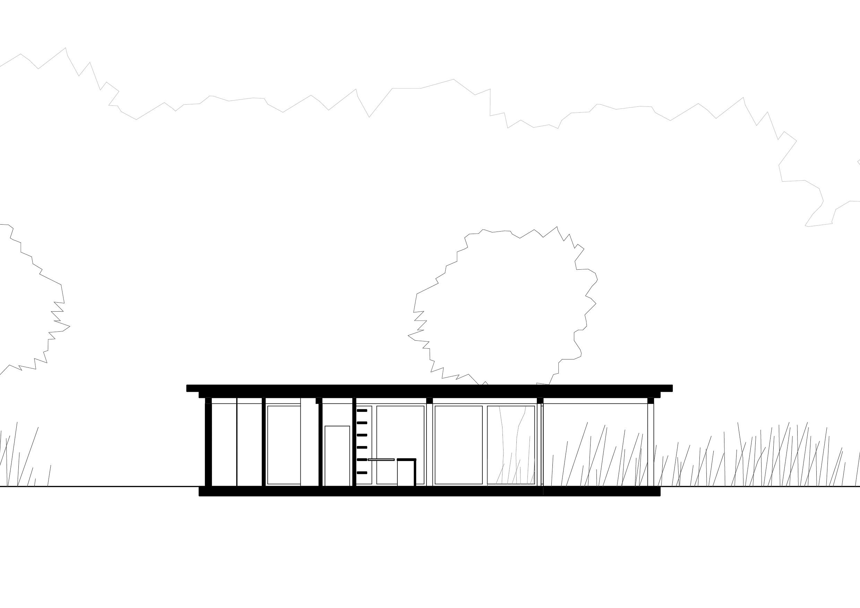 KUBIK Architektur - Studio für Architektur Berlin - architecture - Projekt - Kultur - Cafe - Schnitt