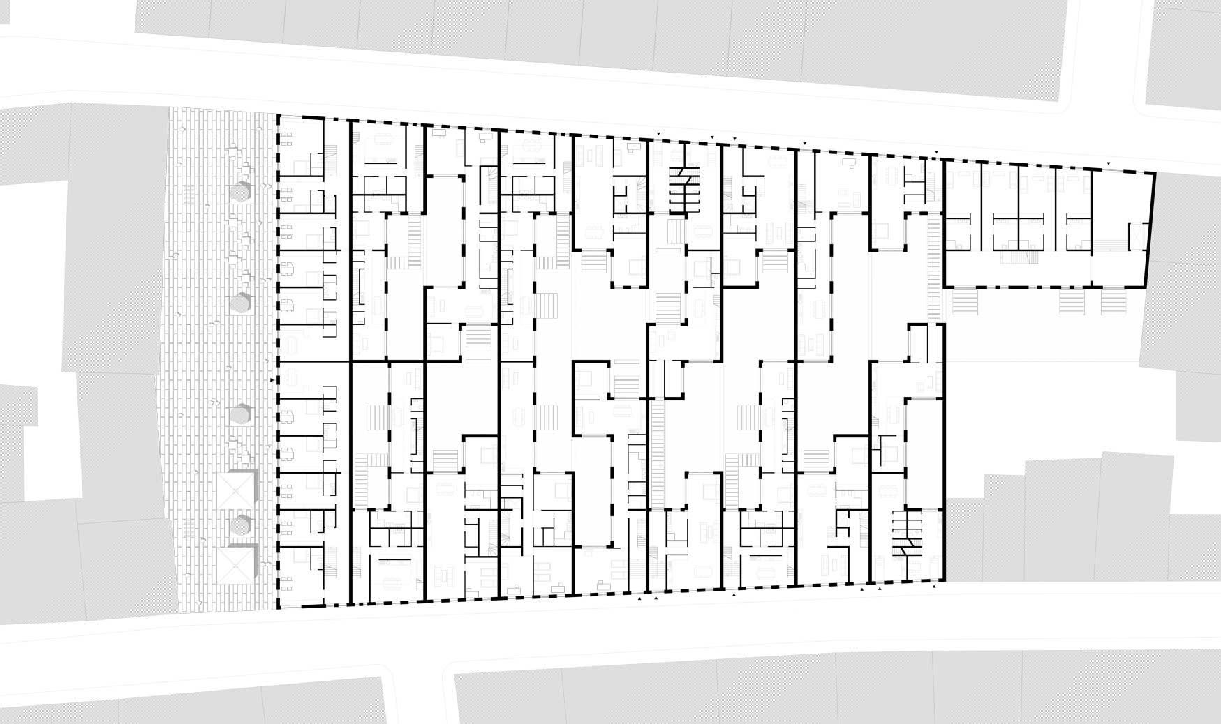 KUBIK Architektur - Studio für Architektur Berlin - architecture - Wettbewerb - Wohnbau - Gruenderzentrum Luebeck - Grundriss