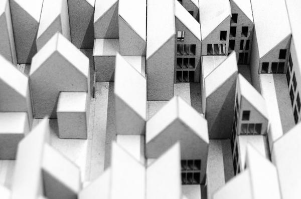 KUBIK Architektur - Studio für Architektur Berlin - architecture - Wettbewerb - Wohnbau - Gruenderzentrum Luebeck - Modellfoto