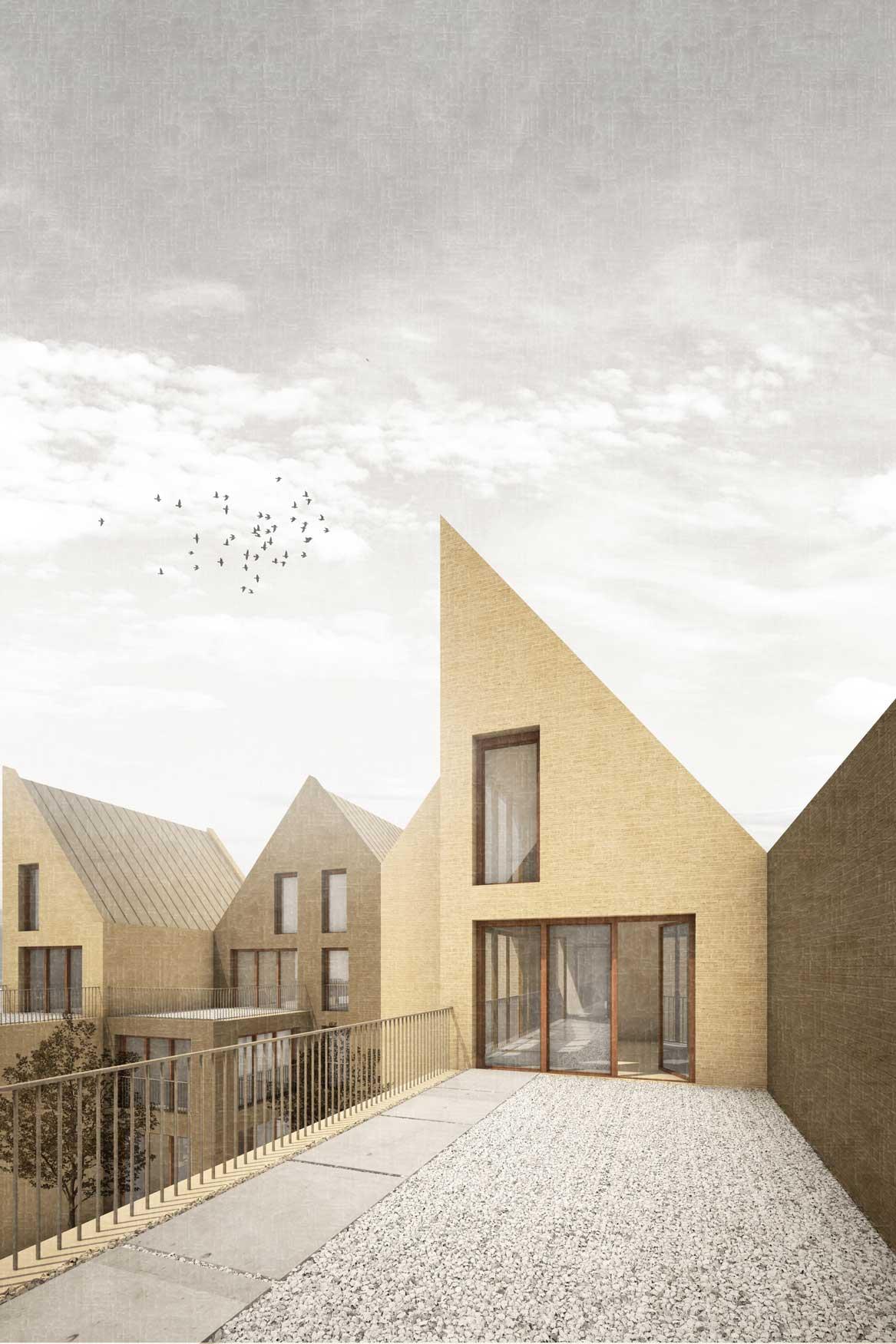 KUBIK Architektur - Studio für Architektur Berlin - architecture - Wettbewerb - Wohnbau - Gruenderzentrum Luebeck - Perspektive