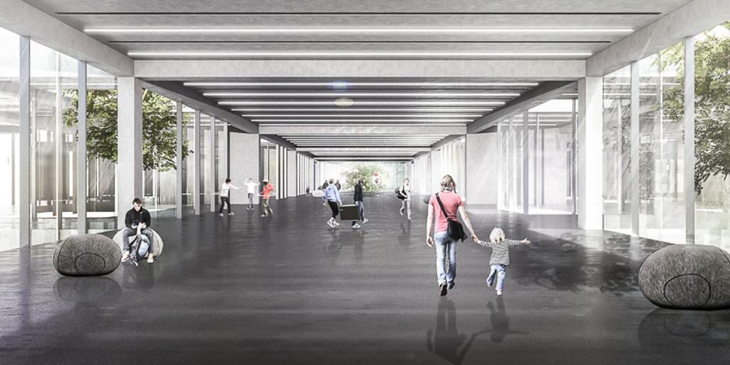 KUBIK Architektur - Studio für Architektur Berlin - architecture - Wettbewerb - Kulturzentrum - Spektrum Spandau - Perspektive