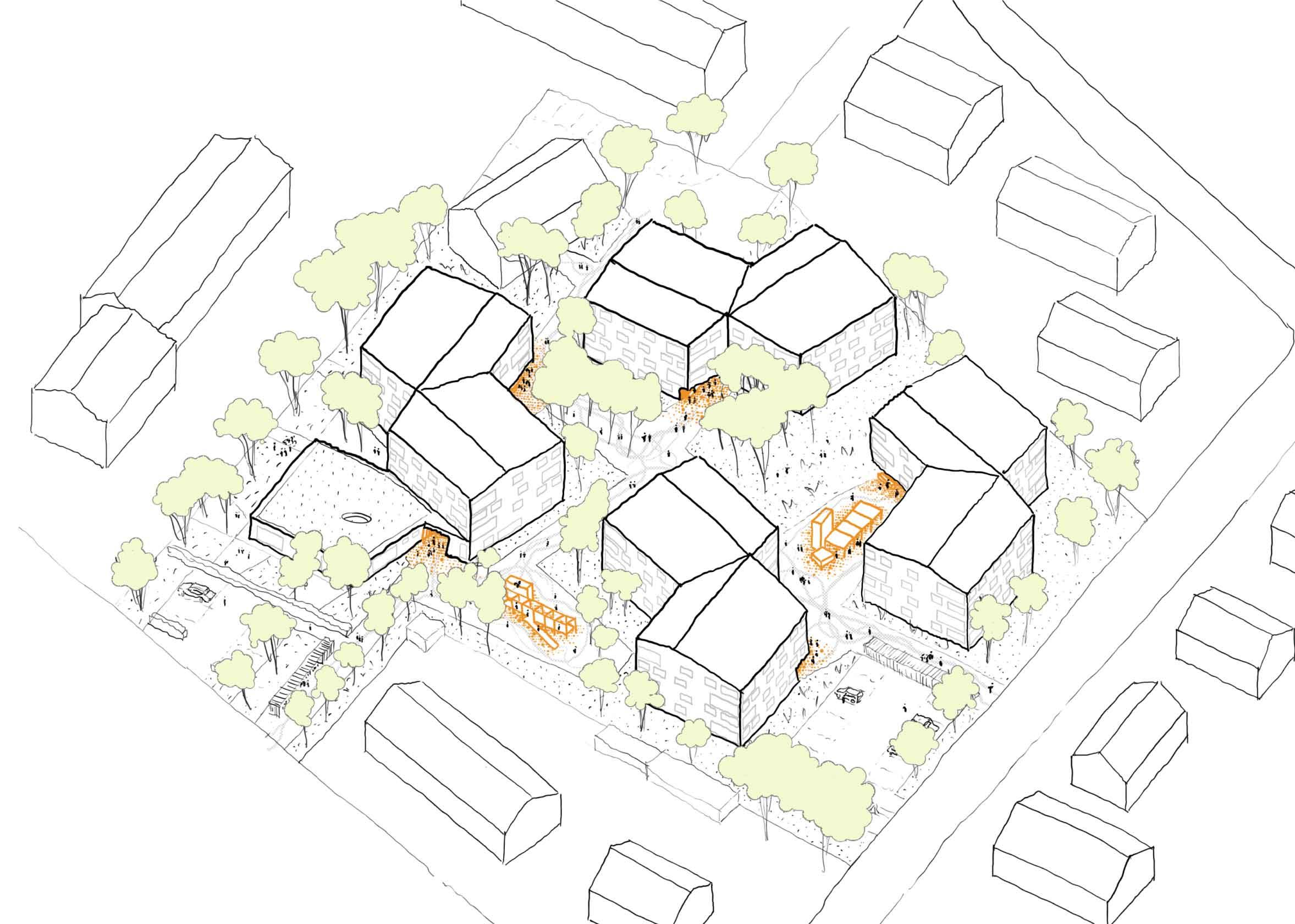 STUDIOKUBIK-architektur-architecture-berlin-wohnanlage-karl-wagner-straße-bad-aibling-skizze
