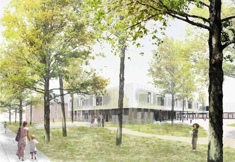 STUDIOKUBIK-architektur-architecture-berlin-Grundschule-Kindergarten-Hort-Krampnitz_Perpsektive