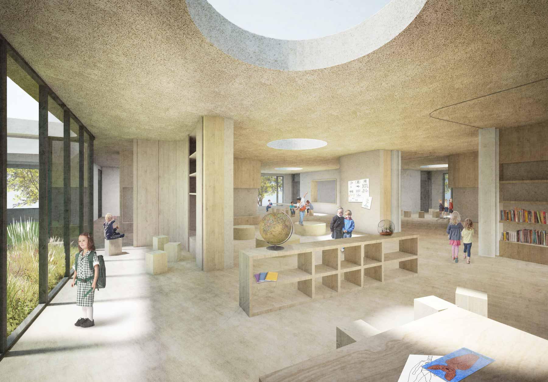 STUDIOKUBIK-architektur-architecture-berlin-Grundschule-Kindergarten-Hort-Krampnitz_Perspektive2
